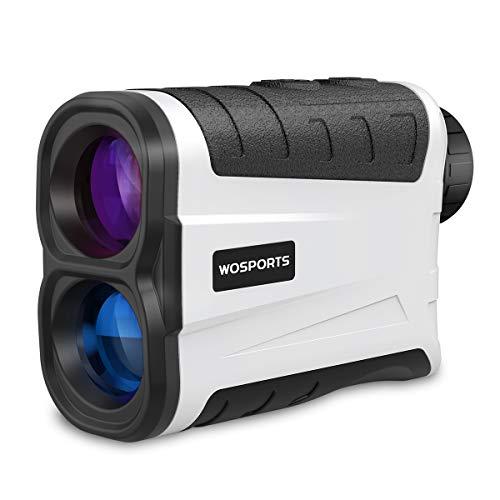 WOSPORTS Golf Rangefinder, 800 Yards Laser Range Finder with Slope, Flag-Lock with Pulse Vibration, Angle, Continuous Scan Measurement LM900H