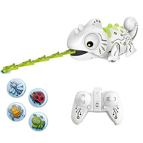 YMMONLIA Chameleon Robot, RC Remote Chameleon With Insect Repellent And Discoloration Fuction Cute Toy Electronic For Children Birthday And New Year Gifts