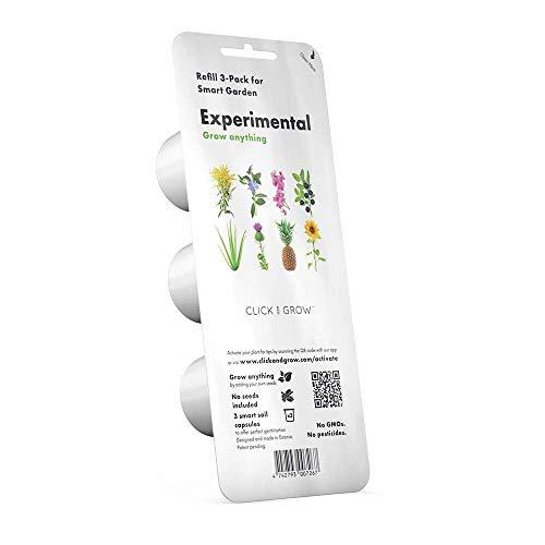 Click & Grow Experimental, Ensemble de 3 Pots de Recharge pour Le Smart Herb Garden