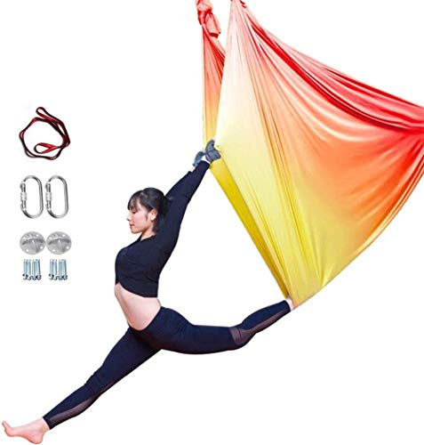 Best Prices! YAOSHUYANG Aerial Yoga Hammock, Aerial Yoga Swing Set, Ultra Strong Antigravity Yoga Ha...