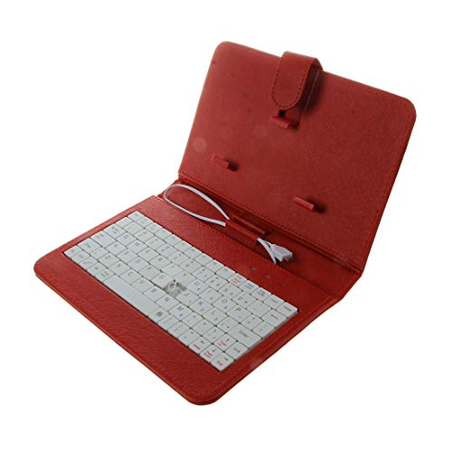 Fltaheroo Universal Wired Keyboard Flip Holster para teléfono Android 4.2''-6.8''red