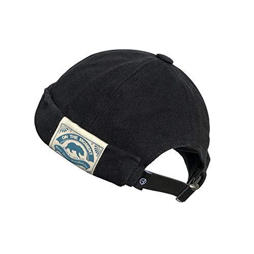 Croogo Worker Hat Washed Skull Caps No-Visor Caps Hat for Men Women(CT36-Black)