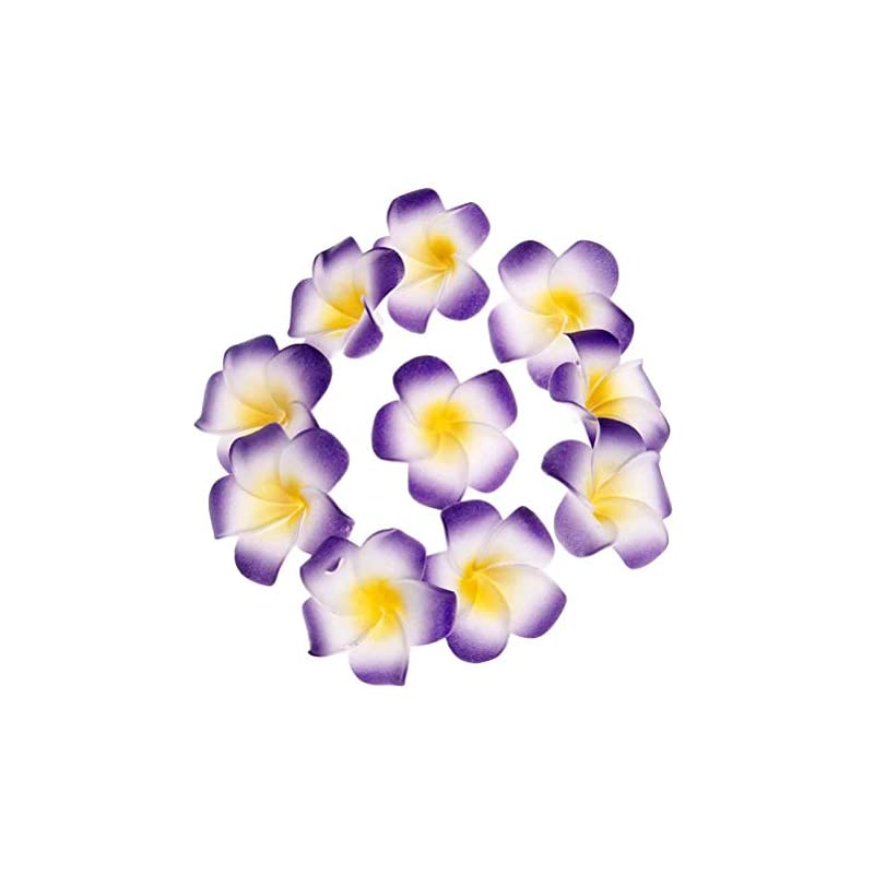 silk flower arrangements 100pcs purple foam hawaiian frangipani artificial plumeria flower petals cap hair hat wreath floral diy home wedding decoration 5cm