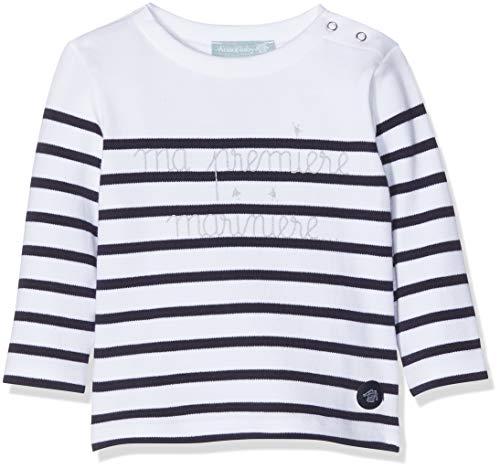 Armor Lux, Marinière ,T-shirt Mixte Bébé , Blanc, 18-24 Mois (Taille Fabricant: 23 Mois)