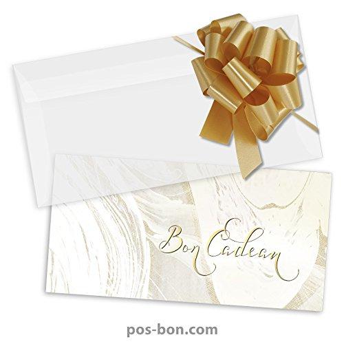 25 Bons cadeaux + 25 enveloppes + 25 noeuds rubans pour massage, kinésithérapie, wellness et spa MA9258F