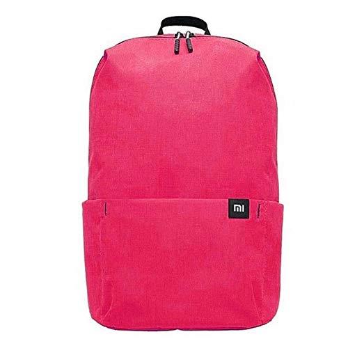 Xiaomi Mi Casual Daypack Wasserdichter Unisex Rucksack (Wasserschutzklasse IPX4, 10 Liter Stauvolumen, 1 Hauptfach, 4 Außenfächer, hochwertige YKK Reißverschlüsse, Leichtgewicht: 165g) Pink (Magenta)