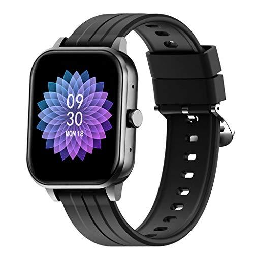 Reloj Inteligente Smartwatch Los Hombres,Monitores De Actividad De Bluetooth Llamada Multifuncional Deportes Al Aire Ritmo Cardíaco Y Pulsera De Presión Arterial, Jugador De Música,Negro