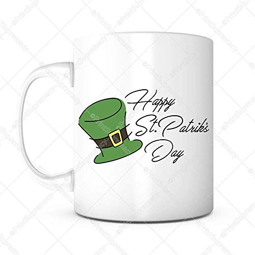 Gelukkig St. Patrick Dag Ik Leid Gratis Keramische Koffie Mok Thee Beker Wit