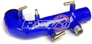 REV9 BLUE FOR 02-07/WRX 04-14 STI EJ20 EJ25 TURBO INLET SILICONE DIRECT BOLT ON