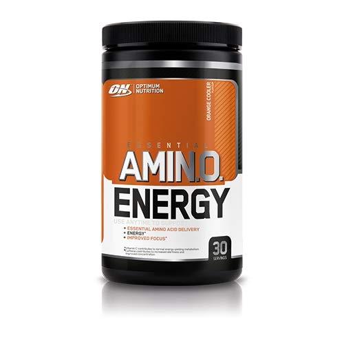 Optimum Nutrition ON Amino Energy, Pre workout en Poudre, Energy Drink avec Bêta-Alanine, Vitamine C, Caféine et Acides Aminés, Saveur Orange, 30 Portions, 270g, l'Emballage Peut Varier