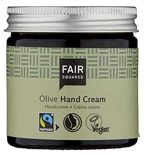 FAIR SQUARED Hand Creme Sensitive Olive 100 ml Handcreme - Handpflege für empfindliche Haut - mit Fairtrade-Olivenöl - vegane Naturkosmetik - Zero Waste im...