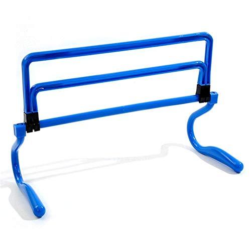 vrsupin0 Plegable Fútbol Entrenamiento Entrenamiento de Agilidad Equipment para Vallas Salto Entrenador (Amarillo) - Azul