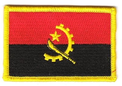 Flaggen Aufnäher Patch Angola Fahne Flagge NEU