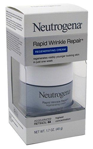 Neutrogena Rapid Wrinkle Repair Retinol Regenerating Face Cream & Hyaluronic Acid Anti Wrinkle Face Moisturizer, Neck Cream, with Hyaluronic Acid & Retinol, 1.7 oz (Pack of 3)