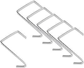 Godery Over The Door Hanger - 6 Packs, Wall Mount Metal Hooks Holder for Home Storage Organizer (Pack of 6 Hooks)