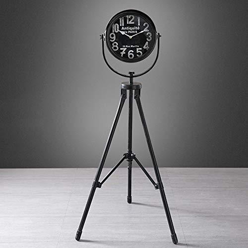 RGF Black European Retro Schmiedeeisen Leuchtturm Dekorative Uhren und Uhren Ornamente Crafts Wohnzimmer Flur Fussboden Hauptdekorationen 50 * 50 * 112 (cm)
