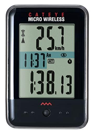 キャットアイ(CAT EYE) サイクルコンピューター MICRO WIRELESS ブラック CC-MC200W スピードメーター 自転車