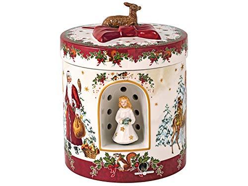 Villeroy & Boch Christmas Toys Geschenkpaket groß rund, Christkind, weiß, 17x17x21,5cm