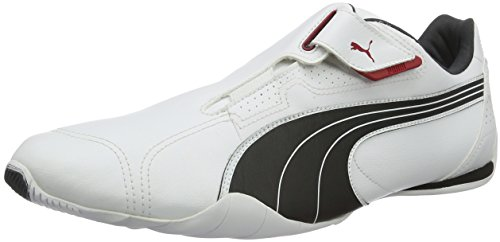 Puma Redon Move, Unisex-Erwachsene Sneakers, Weiß (white-black-ribbon red-puma silver-dark shadow 01), 45 EU (10.5 Erwachsene UK)