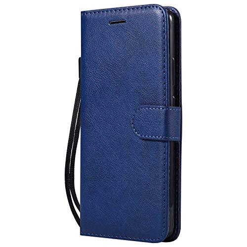 DENDICO Cover Huawei Mate 10 PRO, Premium Portafoglio PU Custodia in Pelle, Flip Libro TPU Bumper Caso per Huawei Mate 10 PRO - Blu Navy