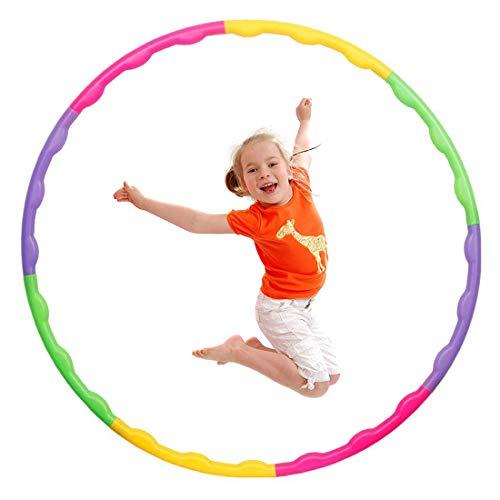 MXJFYY Hula Hoop Enfant, Cerceau d'exercice de Remise en Forme Réglable Amovible pour la Gymnastique, la Danse, Les Jeux, Perdre du Poids pour Les Garçons et Les Filles (55cm)