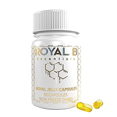 Royal Jelly 4,500mg (Non-Freeze Dried) in Vegetable Capsules | 100% Natural - for Energy, Stamina & Vitality