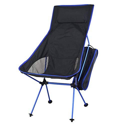 LIN HE SHOP Chaise Pliante à Haut Dossier, Moon Chairs, Polyester de l'alliage d'aluminium 1200D d'aviation, Plage de Camping en Plein air