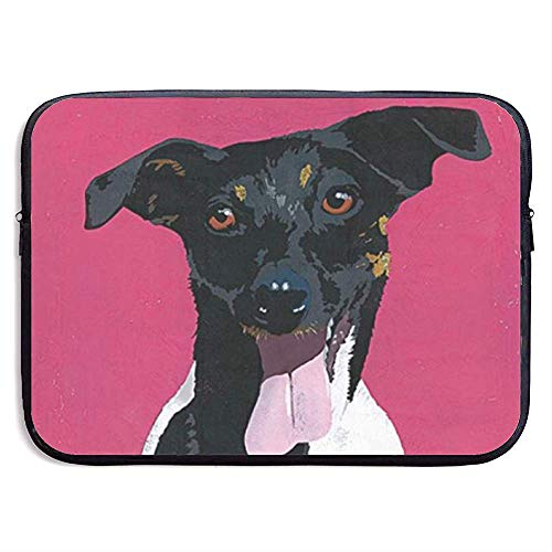 Jack Russell Terrier Dog 15-inch laptophoes tas draagbare ritssluiting laptoptas tablet-tas