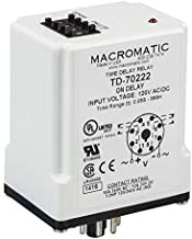 Macromatic TD-70822 Time Delay Relay, Flasher Off, 120V, Digital Set