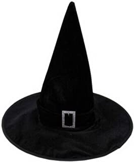POPETPOP Halloween Witch Hat for Women, Velour Witch Sorceress Hat Fancy Costume for Female Adult Halloween Christmas Part...