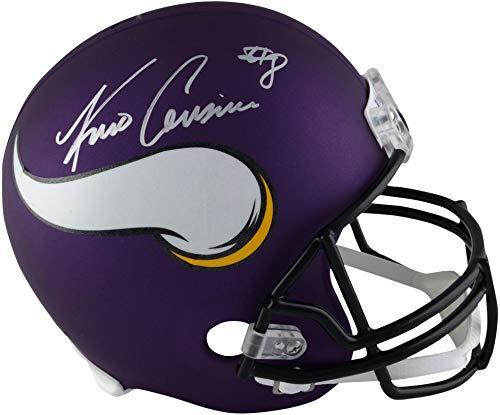 Kirk Cousins Minnesota Vikings Signed Autograph Full Size Helmet Steiner Sports Certified