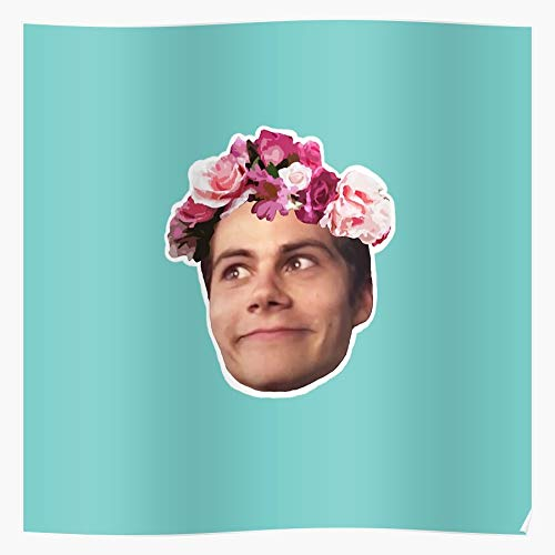Airflo Stilinski Obrien Blue Funny Flower Face Stiles Crown Teen Dylan Wolf Impressive posters for room decoration printed with the latest modern technology on semi-glossy paper background