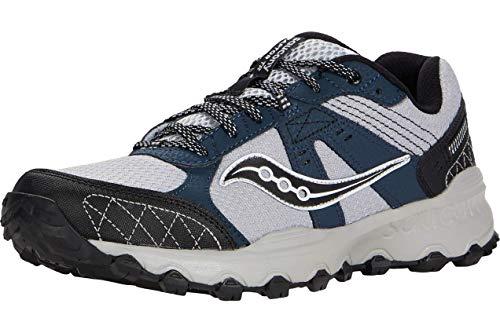 Saucony Men's Grid Raptor TR 2 Running Shoe, Grey/Blue, 11