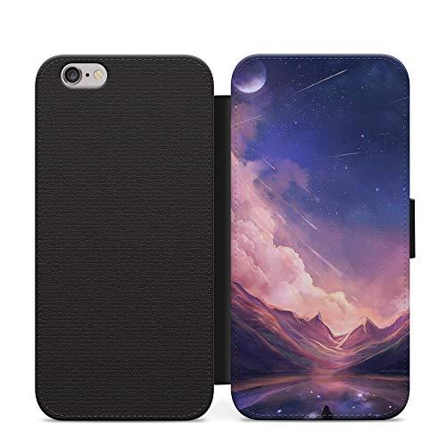 Carcasa para iPhone XS con diseño de anime de Mountain Ocean Neon Futuristic Space Future
