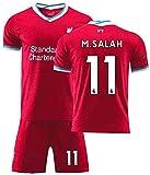 GXT Jersey Kids Liverpool Soccer Jersey Set Mohamed Salah # 11 Fans Transpirable Football Training Camp Camp Set Cómodo (Size : 4Years)