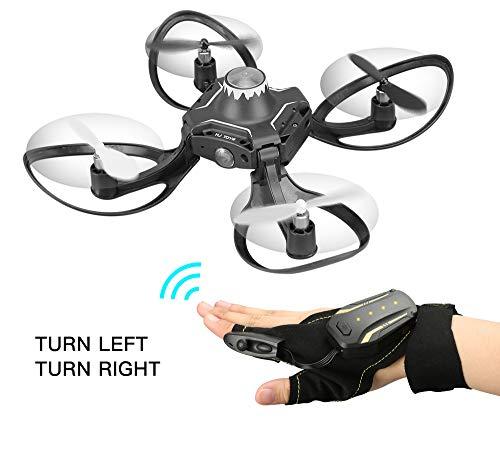 Remote Control Drone, Foldable Gesture Sensor Om Control Helicopter One-Click Return gebaar naar Roll Drone voor beginners