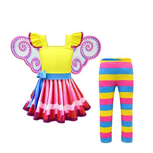 Thombase Kleinkind-Kleid für Mädchen Gr. 8-9 Jahre, 2 Stück.