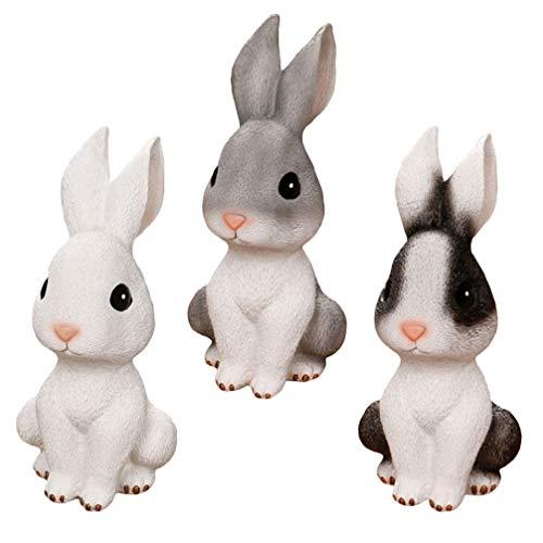 IMIKEYA Hucha de resina de conejo, hucha de conejo, hucha para regalo de cumpleaños, juguete para decoración de escritorio