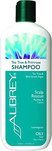 Aubrey Organics Tea Tree & Primrose Shampoo - Natural Dandruff Alternative & Sulfate Free - 16oz