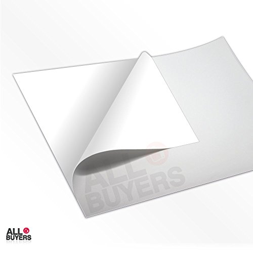2AINTIMO 50 vellen A4 kleefpapier wit vinyl gepatineerd glanzend polypropyleen voor laserprinter