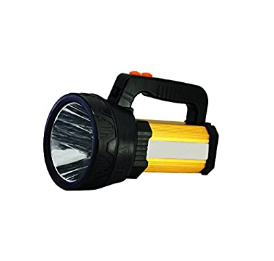 LED Rechargeable Handheld Searchlight?Super Bright 10000 LUMENS Outdoor Spotlight with 6 Light Model&8000mah Power Bank?Black?