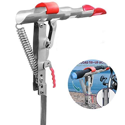 Mankoo Angelrutenhalter, Rutenständer für Angelruten Edelstahl Stark und Stabil Halterung Ständer Rutenablage Linie-Trigger