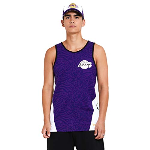 New Era Los Angeles Lakers NBA Shirt Tanktop Basketball Fanshirt Trikot Lila - M