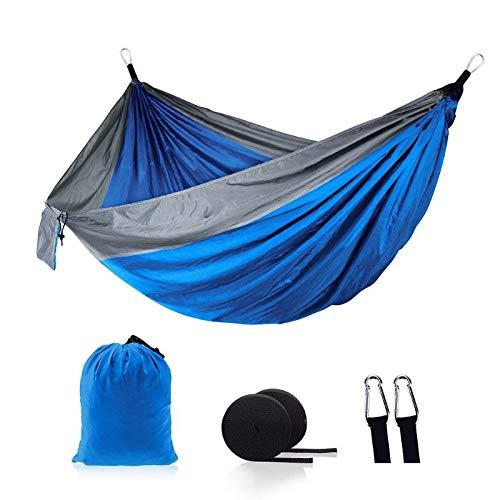 caihuashopping Hamaca Portátil Camping al Aire Libre Hamaca Swing Conjunto Plegable Cosas Fitness Escalada Entretenimiento Padre-Niño Interactivo Interior al Aire Libre Hamaca (Color : Blue)