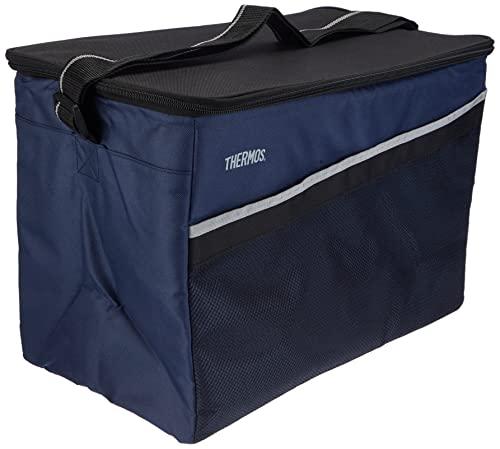 THERMOS Kühltasche Classic gross 35 Liter - Isolierte Einkaufstasche aus Polyester, blau 26,5 x 44,5 x 30 cm - Faltbare Isoliertasche ideal für Sport, Picknick, Büro, Auto oder Urlaub - 4080.252.350