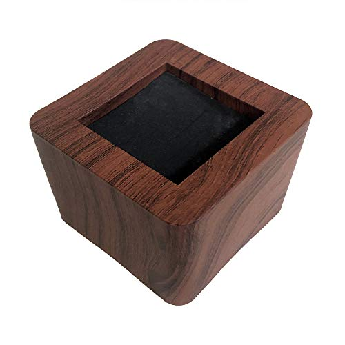 MIIX HOOM Bed Risers 3 Inch | Heavy Duty Wooden Color Furniture Risers | 4PCS | Dark Brown Sofa Couch Risers or Table Risers (Dark Wood Color)
