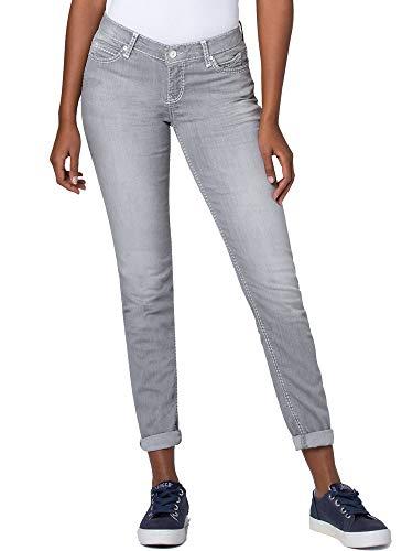 SOCCX Damen Slim Fit Jeans HE:DI in Grey Used