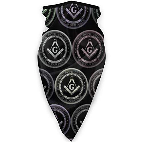 ASDAH Hals Gamasche Abdeckung Magic Face Cover Schal Staub Wind Bandana Sturmhaube Kopfbedeckung für das Radfahren Freimaurer Glaube Hoffnung Wohltätigkeit Freimaurer Logos