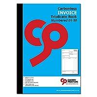 チェリー請求書帳 3冊 A4 (8.27 x 11.69インチ) 50セット 番号付き