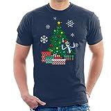 Cloud City 7 Mordecai Around The Christmas Tree Regular Show Men's T-Shirt